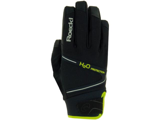Roeckl Rhone Bike Gloves black/yellow